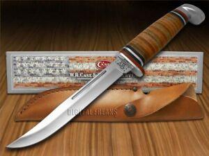 Case xx Slim Fixed Blade Hunter Knife Polished Leather Handle 00381