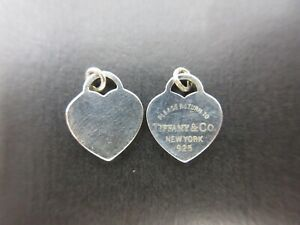 Authentic Tiffany & Co. Return To Double Heart Pendant Top Silver 925 Good 96693