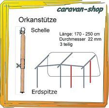 Orkanstütze 22 mm Zelt-Stange Zusatzgestänge Zeltstangen Vorzelt Wohnwagen
