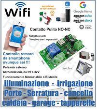 Ricevente WiFi rele NO NC compatibil Google home, Alexa , amazon echo, Da Italia