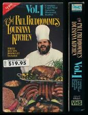 Chef Paul Prudhomme's Louisiana Kitchen Vol. 1 Cajun Meals Cooking VHS Recipes
