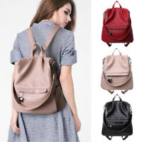 Convertible Leather Backpack Rucksack Daypack Shoulder Bag Purse Anti-Theft New