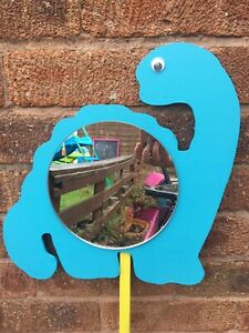 Children's Outdoor Dinosaur Mirrors Garden Handmade Sensory EYFS Acrylic