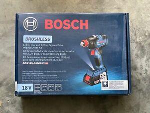 Bosch Freak 18V Variable Speed Brushless Cordless Impact Driver GDX18V-1800B12