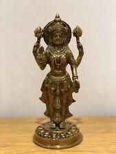 Brass Metal Statue Sculpture Indian Standing Hindu Goddess Lakshmi - 28 cm