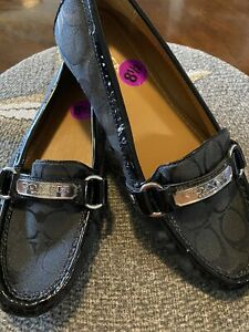 Coach Black Shoes New  W/ Silver Tone Buckle  Size 81/2 Ladies ,Felisha