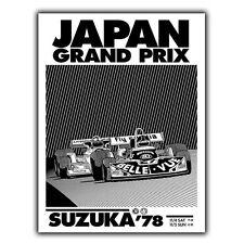 METAL SIGN WALL PLAQUE JAPAN GRAND PRIX SUZUKA 1978 Vintage Retro advert poster