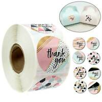 500PC/Roll Thank you Stickers Wedding Flower Baking Handmade Adhesive Label Cute