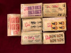 (1000) MNH OG 5 Cent Plate Blocks