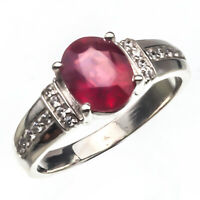 925 Sterling Silver Natural Certified 5.00 Carat Ruby Handmade Engagement Ring