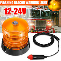 12/24V Car Truck Vehicle LED Warning Light Strobe Flashing Rotating Light Amber