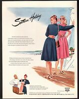 Original 1946 Vintage Print Ad Burlington Mills Bur-Mil Rayon Fabrics Holiday
