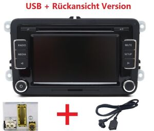 VW Autoradio RCD510 + USB Kabel + RVC für Golf Touran Passat Polo Caddy CC Jetta