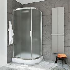 Duschkabine Duschabtrennung Viertelkreis Schiebetür Echtglas 70x70x185cm SIGMA