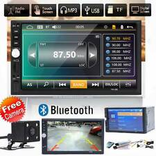 7 Inch Double 2 DIN Car MP5 Player Bluetooth Touch Screen Stereo Radio w/Camera