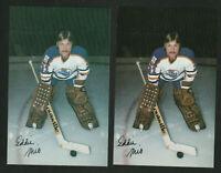 1979-80 Ed Mio ERROR and CORRECTED Edmonton Oilers Postcards