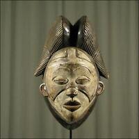 60340) Afrikanische Holz Maske Tsangui Gabun Afrika KUNST