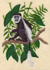 "Monkey, Black & White Colobus, Primates, Gorilla, Embroidered Patch 7""x 10.2"""