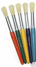 5pk CHUNKY HANDLED PAINT BRUSHES FOR KIDS CRAFTS
