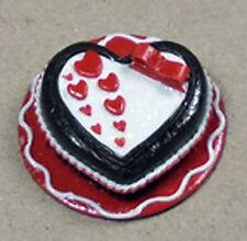 1; scala 12 Torta al Cioccolato Cuore Con Cuori Casa delle Bambole Miniatura PANETTERIA NC18