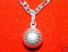 Silver Pendant Charm Jewelry Look Solid VolleyBall Sports