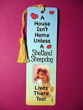 """Shetland Sheepdog"" A House Isn't Home Tassel Keb (flag gold tassel) Sku# 13"