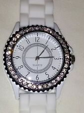 NEW White strap Crystal face Watch.