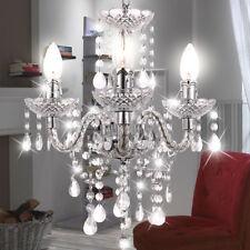 Design Kronleuchter Wohn Zimmer Decken Hänge Leuchte Lüster Kristall Behang klar