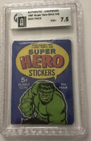 Marvel Super Hero Stickers-Hulk- N/S NM+7.5-Global Authenticator-Philadelphia