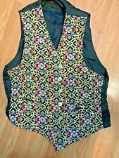 Gold/black) hipster/ superhip very good Vintage 1968 Mosiac Vest (reverse to