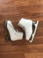 Jackson Glacier White Leather Figure Skate Youth 3