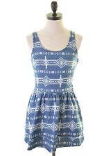 Topshop para mujer Sol Vestido Talla 6 Xs Azul Algodón