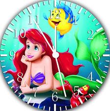 Little Mermaid Ariel Frameless Borderless Wall Clock Nice For Gifts Decor E325