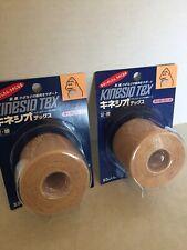 """Kinesio Tex 2 Rolls Beige 2"""" x 13.1' Tape New"""