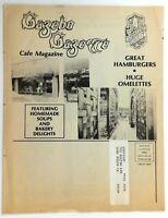 1970's Vintage Mailer Ad Menu THE GAZEBO CAFE & BAKERY Restaurant Long Beach CA