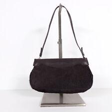 TOD`S Damentasche Tasche Handtasche Echt Leder Fell schwarz Abendtasche