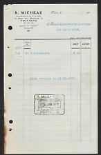 """POITIERS (86) PHARMACIE """"R. MICHEAU"""" en 1937"""