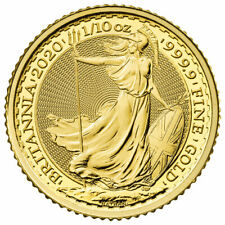 2020 Great Britain 1/10 oz Gold Britannia £10 Coin GEM BU Delay SKU59720