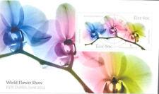 Ireland-World Flower show min sheet fine used-2014