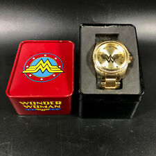 Wonder Woman DC Comics Gold Tone Watch with Crystals SR626SW WOW8033