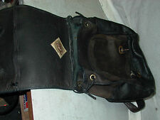 ORIGINAL LEATHER LINE Black Brown backpack Thick supple texture USA artisan bag