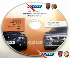 MG ZT / R75 GENUINE MG ROVER XPART TECHNICAL INFORMATION RAVE DISC