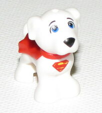LEGO NEW WHITE PUPPY ANIMAL SUPERMAN DOG WITH RED CAPE PIECE