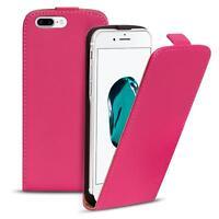 Flip Case Apple iPhone 7 Plus Hülle Pu Leder Klapphülle Handy Tasche Cover Pink