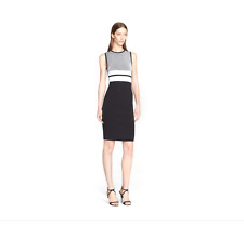 NWT NARCISO RODRIGUEZ Wool Blend Reversible Knit Sheath Dress 36IT/ 0 US $1,795