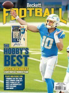 New JULY 2021 Beckett FOOTBALL Card Price Guide Magazine JUSTIN HERBERT 5022218