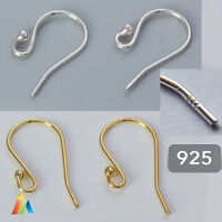 925 STERLING SILVER EARRING FISH HOOKS WIRES EARWIRES