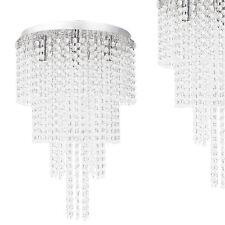 [lux.pro] Design Plafoniera Finto Cristallo Alluminio Plafoniera Lampadario
