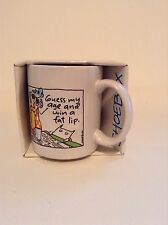 Hallmark Shoebox Greetings Guess My Age & Win A Fat Lip Ceramic Coffee Cup Mug