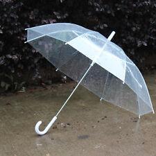 Paraguas para novias transparente empuñadura blanca 98 cm de diámetro